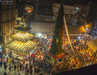Newar Buddhism - Seto Machindranath Jatra at the Temple of Annapurna