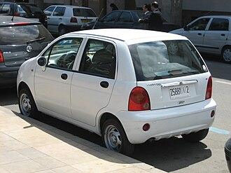 Chery QQ3 - Image: Chery QQ rear Morocco