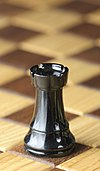 Chess piece - Black rook.JPG