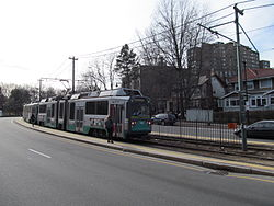 Chestnut Hill Avenue MBTA station inbound, Chestnut Hill MA.jpg