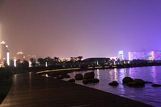 Suzhou -  Nightscape of Suzhou's Jinji Lake