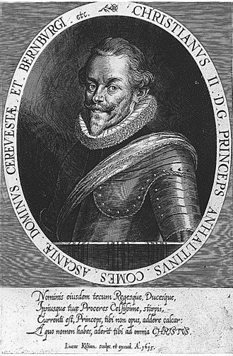 Frederick V of the Palatinate - Frederick's chancellor Christian I, Prince of Anhalt-Bernburg (1568–1630).