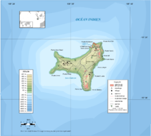 an enlargeable topographic map of christmas island