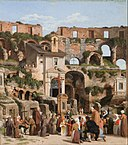 Christoffer Wilhelm Eckersberg - View of the interior of the Colosseum - Google Art Project.jpg