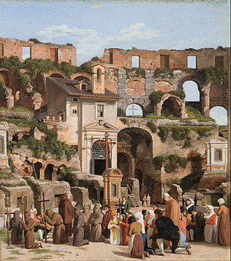 Christoffer Wilhelm Eckersberg - View of the interior of the Colosseum