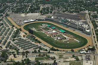 Churchill Downs - aerial view of Churchill Downs