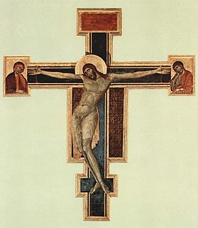 Crucifix (Cimabue, Santa Croce) Painting by Cimabue