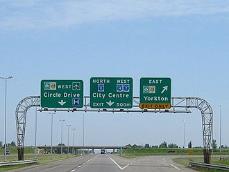 Ministry of Highways and Infrastructure (Saskatchewan) - Routing of SK highways around Saskatoon