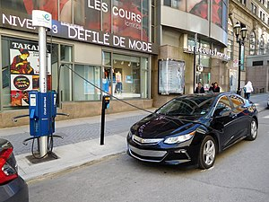 Car charging curbside