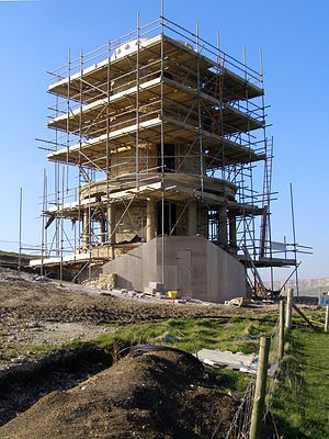 Clavell Tower - Clavell Tower in the final stages of re-erection, February 2008