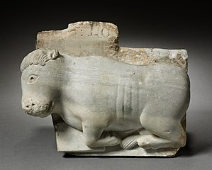 Fragment of a Capital with the Ox of Saint Luke (1972.22)