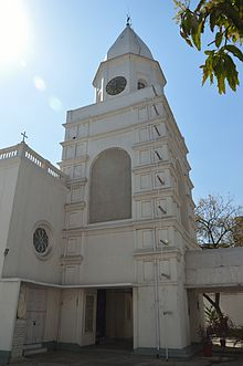 Clock Tower - Armenian Holy Church of Nazareth - Armenian Street - Kolkata 2013-03-03 5468.JPG