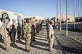 Coalition forces with Regional Command (Southwest) stand in formation during a flag-raising ceremony at Camp Leatherneck in Helmand province, Afghanistan, Nov. 11, 2013 131111-M-ZE445-015.jpg