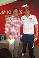 Cobi Jones with fan.jpg