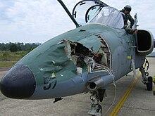 Gli effetti dell'impatto di un volatile su un AMX brasiliano simile a quello pilotato da Parmitano