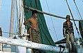 Collectie NMvWereldculturen, TM-20020641, Dia, 'Aan boord van een Buginese prauw in de haven Sunda Kelapa', fotograaf Henk van Rinsum, 1980.jpg