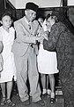 Collectie NMvWereldculturen, TM-60042221, Foto- De Wali Negara van Pasoendan Rd. Arie Adipati Wiranatakoesoema op het vliegtuig veld ban Djocja, 1900-1940.jpg