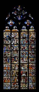 Cologne Cathedral window, interior view (2)