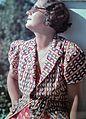 Colorful, portrait, woman, glasses, shades, sunbathe Fortepan 4123.jpg