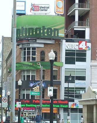 WCMH-TV - WCMH-TV's former studio in downtown Columbus, at the northeast corner of Broad and High streets.