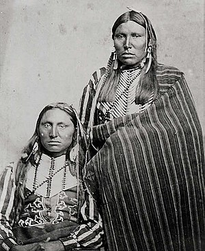 Texas–Indian wars - Comanche braves, c. 1867–1874.