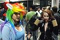 Comikaze 2011 - Rainbow Dash & Black Widow (6953808354).jpg