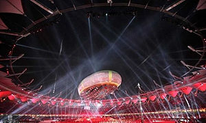 Jawaharlal Nehru Stadium (Delhi) - 2010 Commonwealth Games opening ceremony at the Jawaharlal Nehru stadium