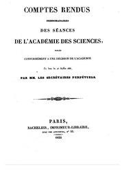 Comptes rendus hebdomadaires des séances de l'Académie des sciences