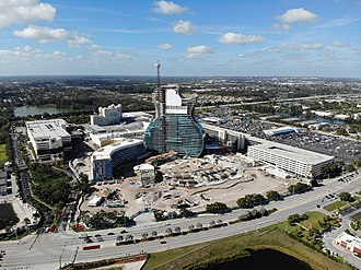 Seminole Hard Rock Hotel & Casino Hollywood - Image: Construction of the Seminole Hard Rock Cafe in Hollywood, Florida (December 2018)