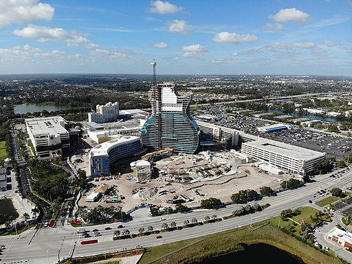 Construction of the Seminole Hard Rock Cafe in Hollywood, Florida (December 2018)