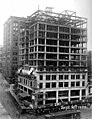 Construction of the William Rust building showing wooden structural support up to twelfth floor, Tacoma, September 10, 1920 (WASTATE 3387).jpeg