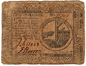Continental Currency $2 banknote obverse (February 17, 1776).jpg