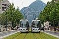 Convoi inaugural de la ligne E du tramway de Grenoble le 28-06-2014 vers l'arrêt Vallier-Libération.jpg