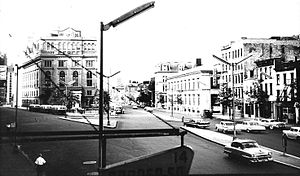 Cooper Square - Cooper Square looking uptown in 1957