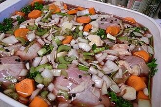 Coq au vin - Image: Coq au Vin Marinating