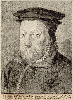 Corneille de Lyon - Self-portrait (copy attributed to Claude Mellan, Albertina inv no 32802).jpg
