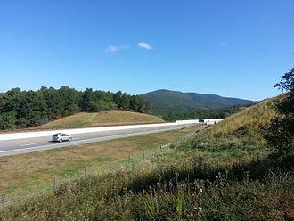 U.S. Route 48 - Looking eastbound on Corridor H from a scenic overlook between Moorefield and Baker