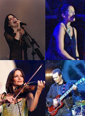 The Corrs - Clockwise from top left: Andrea, Caroline, Jim and Sharon Corr