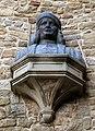 Cortona, san francesco, esterno, busto del signorelli 02.jpg