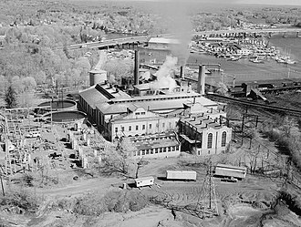 National Register of Historic Places listings in Greenwich, Connecticut - Image: Cos Cob Power Plant, Cos Cob, (Fairfield County, Connecticut)