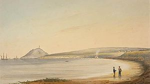 Joseph Whittaker - The Cos Fishing Station in Encounter Bay in 1838 after William Light