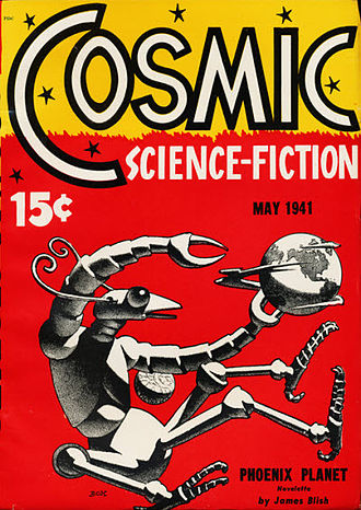 Hannes Bok - Cover of the May 1941 issue of Cosmic Science-Fiction, by Bok.