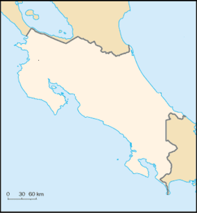 Map showing the location of Corcovado National Park