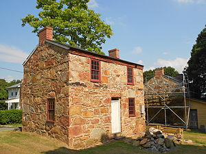 Welsh settlement in the Americas - A stone cottage built in Coulsontown, Pennsylvania by quarrymen from Wales in the mid 19th century