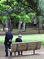 Couple outside Old Courthouse - Odorikoen - Sapporo - Hokkaido - Japan (47971144256).jpg