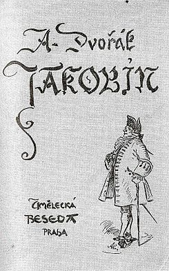 Cover of the piano reduction of Jakobín, pictured by Mikoláš Aleš in 1911..jpg