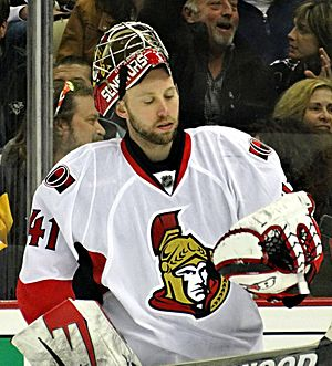 Craig Anderson (ice hockey) - Anderson with the Senators in 2013