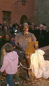 Einweihung des Cranachdenkmals in Wittenberg am 27. November 2005 (Quelle: Wikimedia)