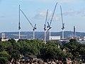 Cranes at Tottenham Hotspur Football Club ground in Haringey London England.jpg