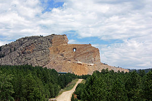 Crazy Horse Memorial - The Crazy Horse Memorial in 2010